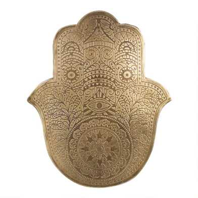 Small Etched Metal Hamsa Wall Decor