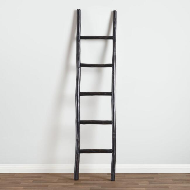 Black Eucalyptus Ladder Decor