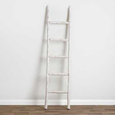 Whitewash Eucalyptus Ladder Decor