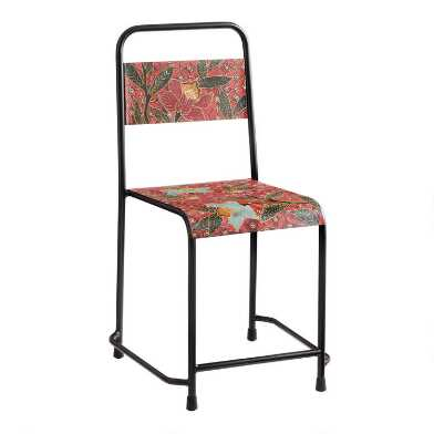Orange Batik Metal Chair