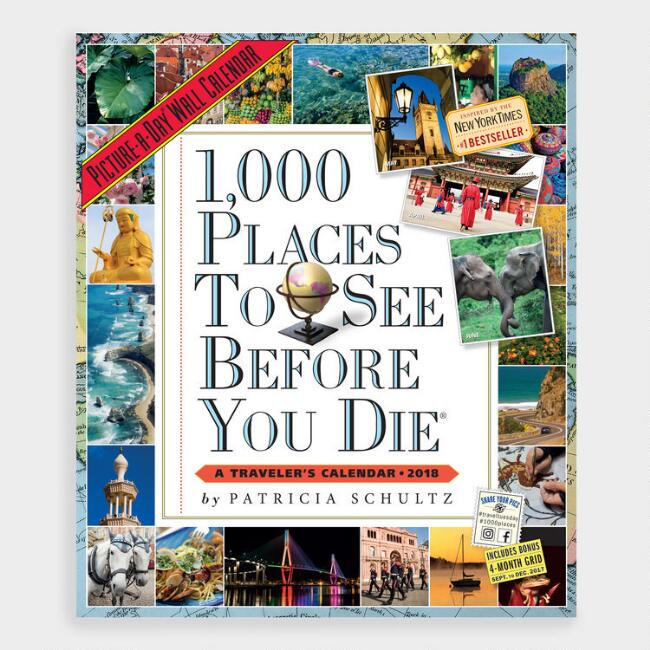 1000 Places to Visit Wall Calendar