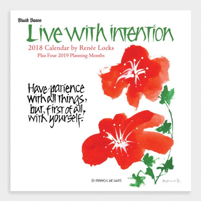 Live with Intention  Wall Calendar