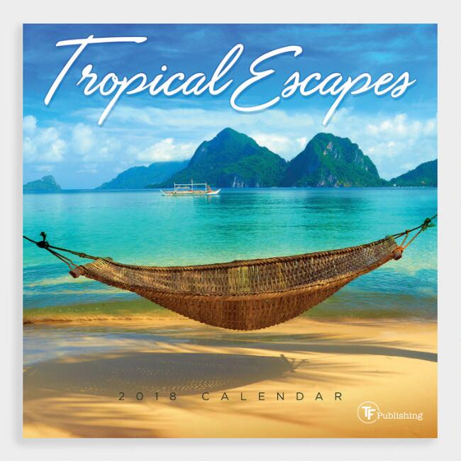 Small Tropical Escapes Wall Calendar