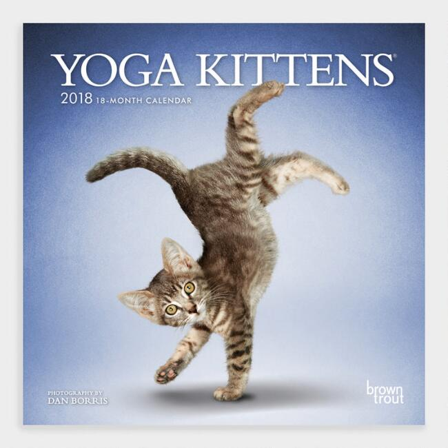 Yoga Kittens Wall Calendar