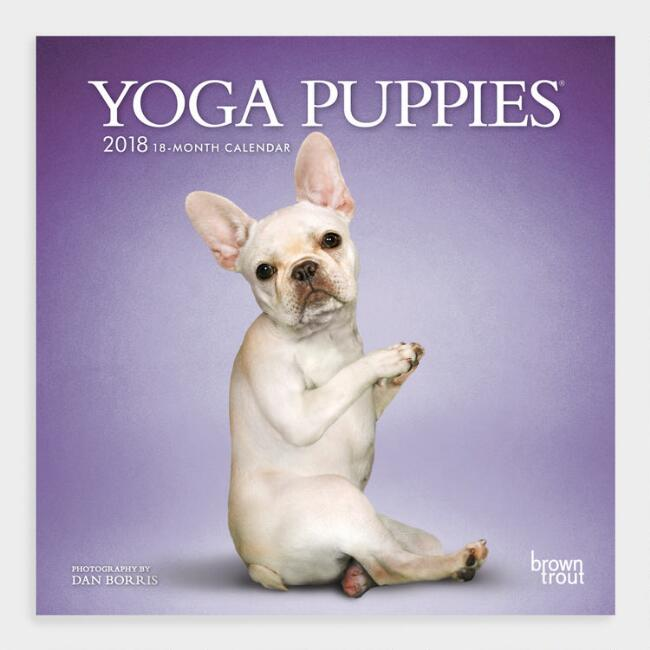 Yoga Puppies Wall Calendar