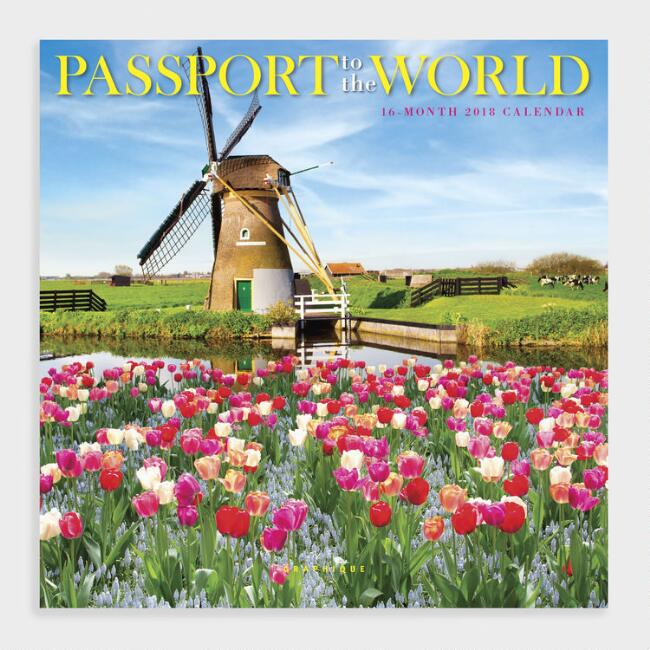 Passport to the World Wall Calendar