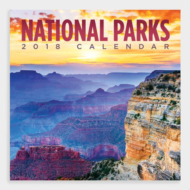 Small National Parks Wall Calendar