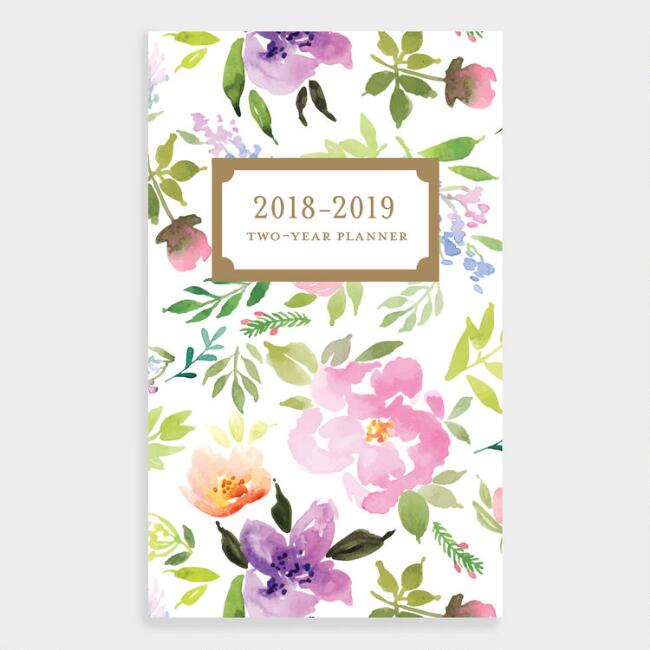 Happy Floral Two Year Planner