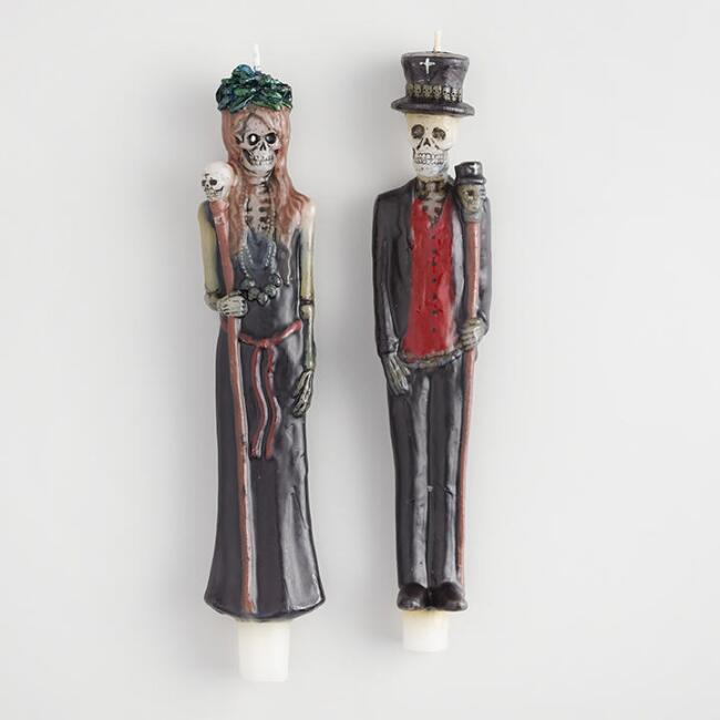 Bayou Character Taper Candles Set of 2