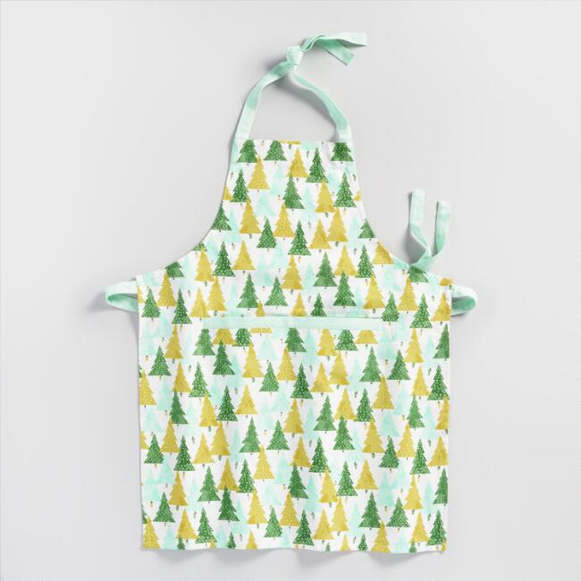 Green Wintry Trees Apron