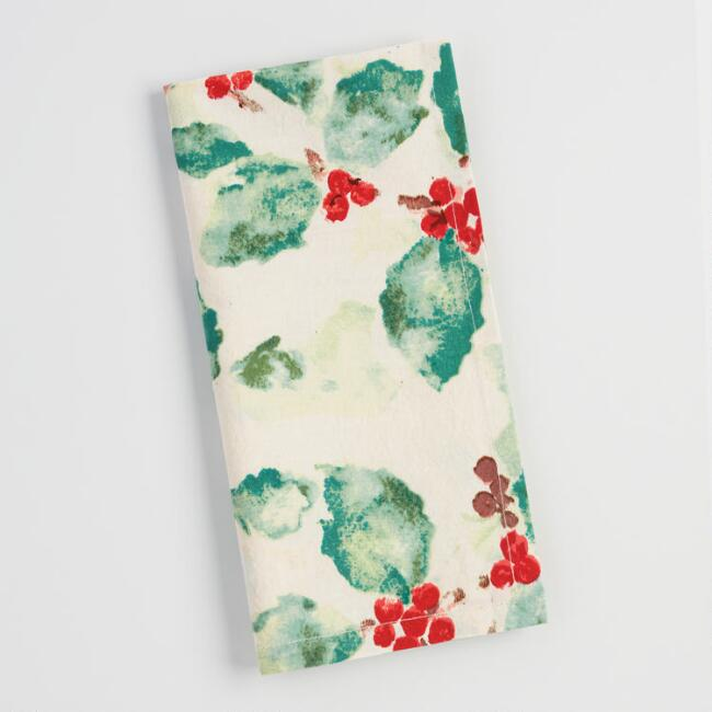 Holly Berry Anastasia  Napkins Set of 4