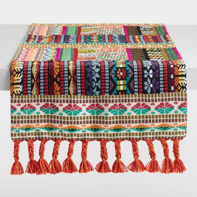Multicolor Patchwork Table Runner
