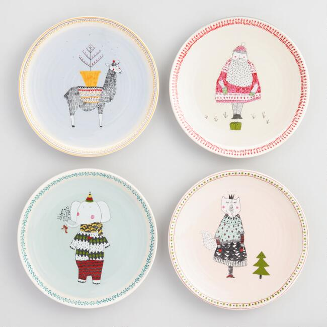 Sweater Weather Plates Set of 4