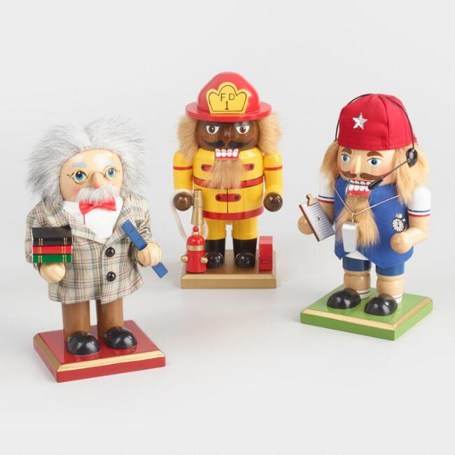 Worker Chubby Nutcrackers Set of 3