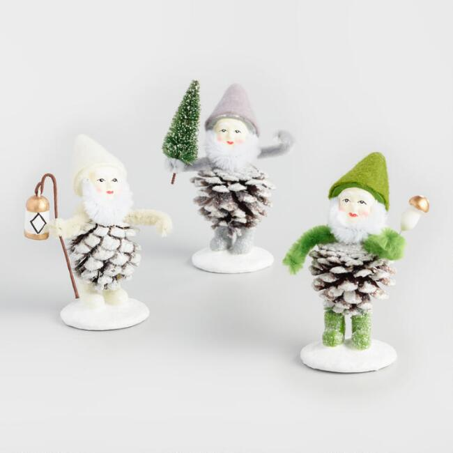 Pinecone Gnomes  Set of 3