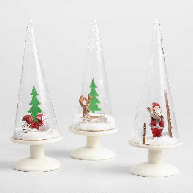 Glass  Tree Cloches Set of 3