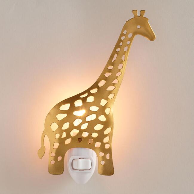 Matte Gold Giraffe Night Light
