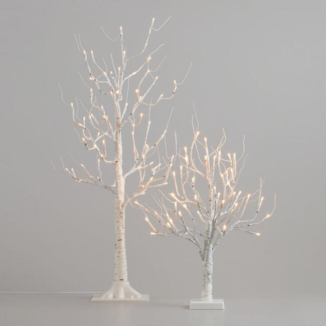 White Birch Micro LED Battery Operated Tree