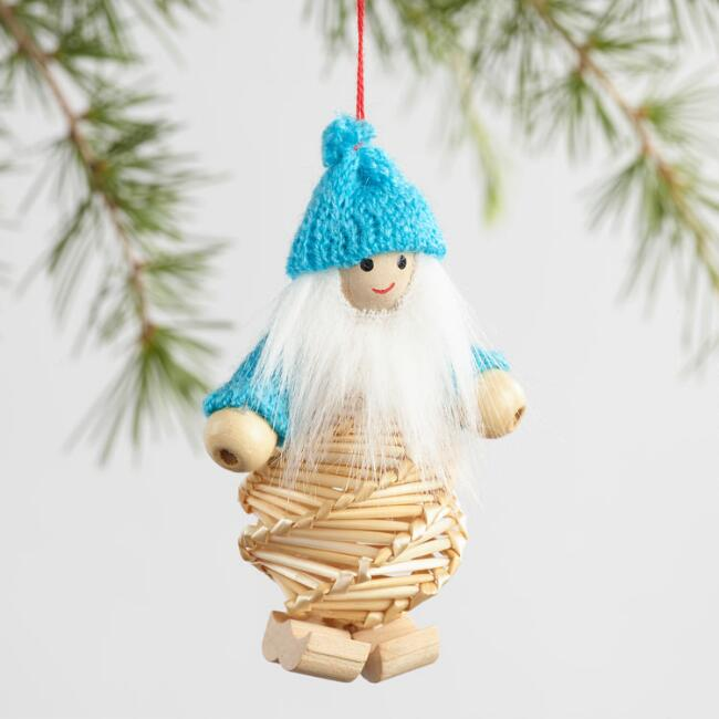Straw Gnome Ornaments Set of 3