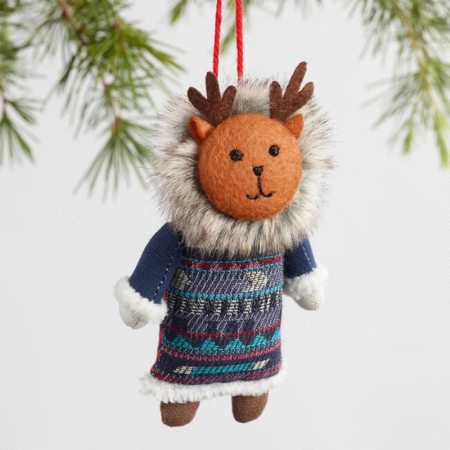 Fabric Woodland Creature Ornaments Set Of 3