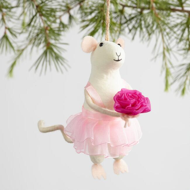 Fabric Mouse Bride and Groom Ornaments Set Of 2