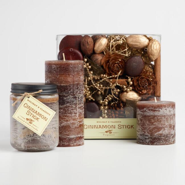 Cinnamon Stick Candle Collection