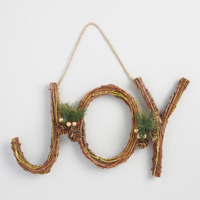 Twig Joy Wall Decor