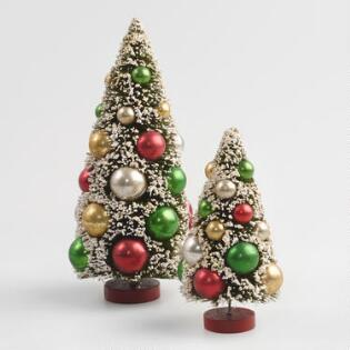 retro bottlebrush tabletop trees - Christmas Tree Accessories