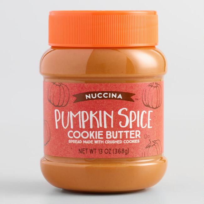 Nuccina Pumpkin Spice Cookie Butter Spread Set of 2