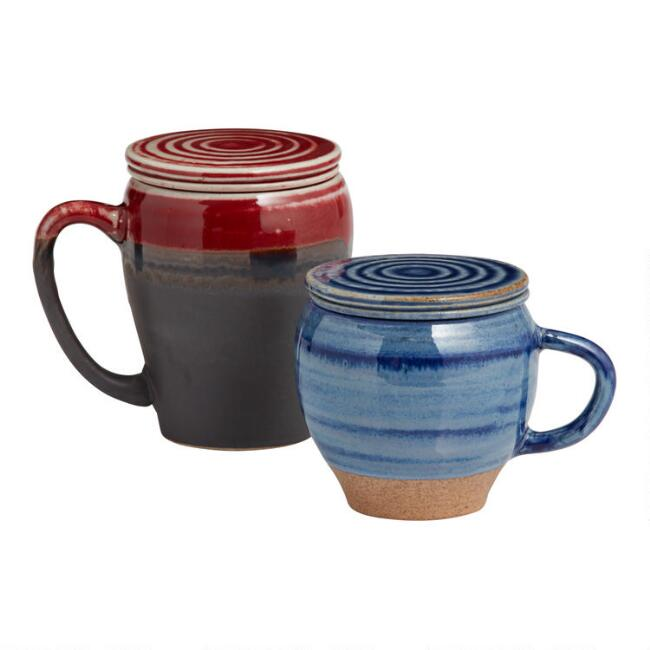Reactive Glaze Infuser Mugs Set of 2