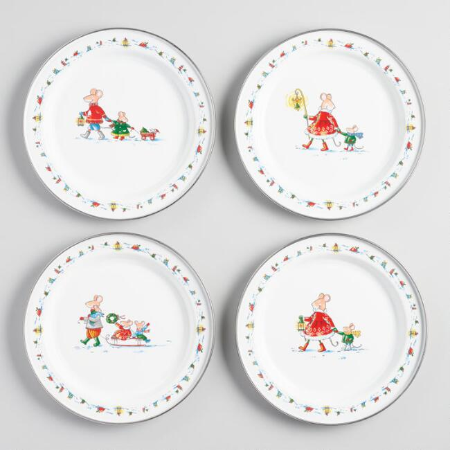 Sweetest Season Enamel Plates Set of 4