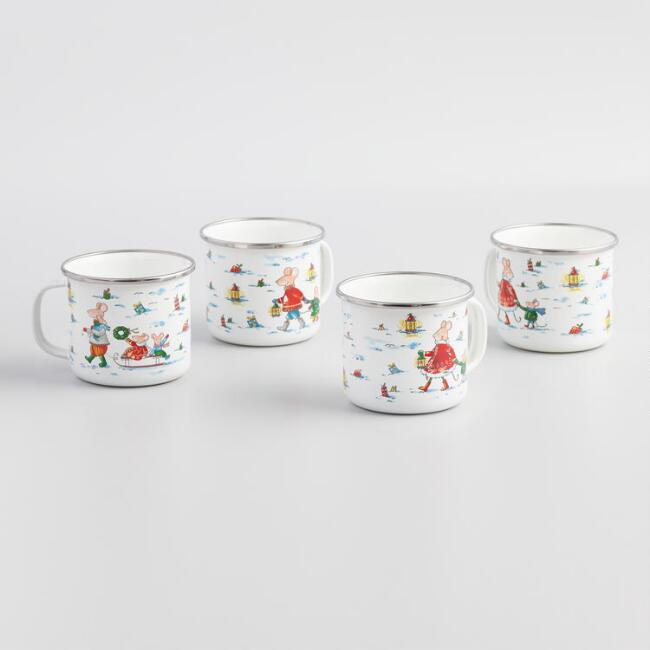 Sweetest Season Enamel Mugs Set of 4