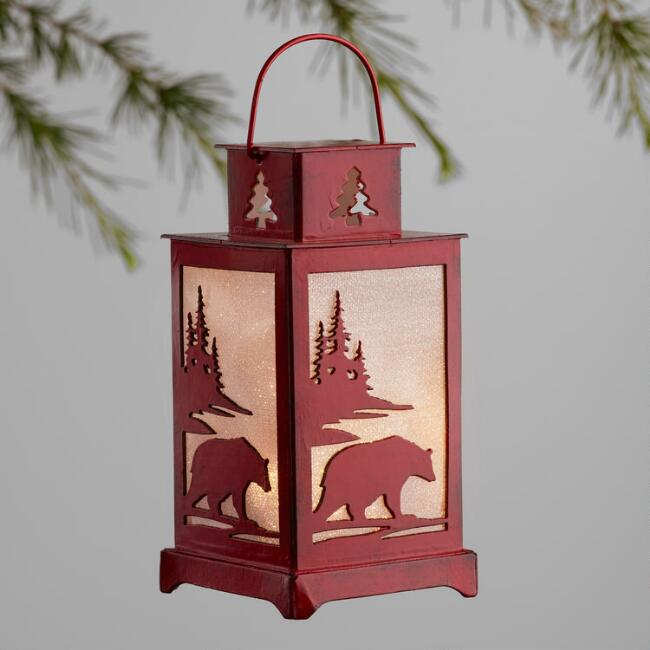 Lodge LED Paper Lantern Ornaments Set of 4