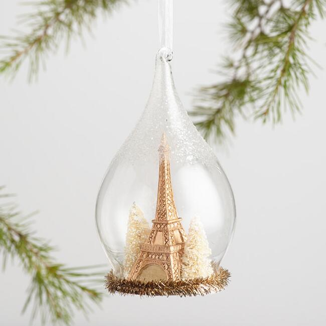 Glass Cloche Icon Ornaments Set of 3