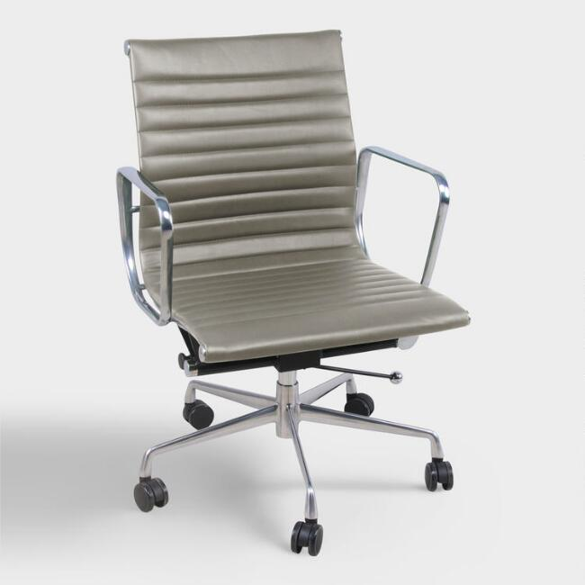 Gray Faux Leather Hensley Office Chair