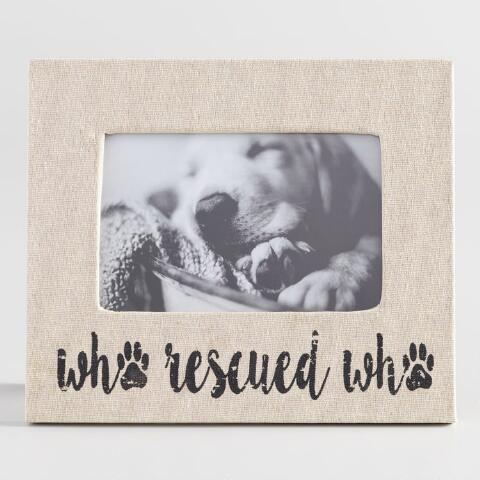 Who Rescued Who Linen Tabletop Frame World Market
