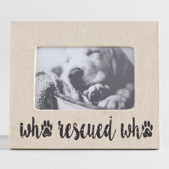 Who Rescued Who Linen Tabletop Frame