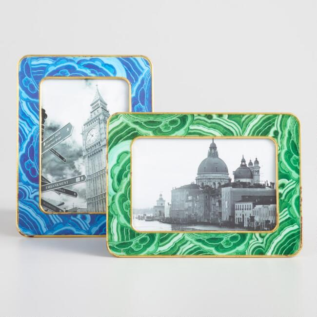 Faux Agate Tabletop Frames