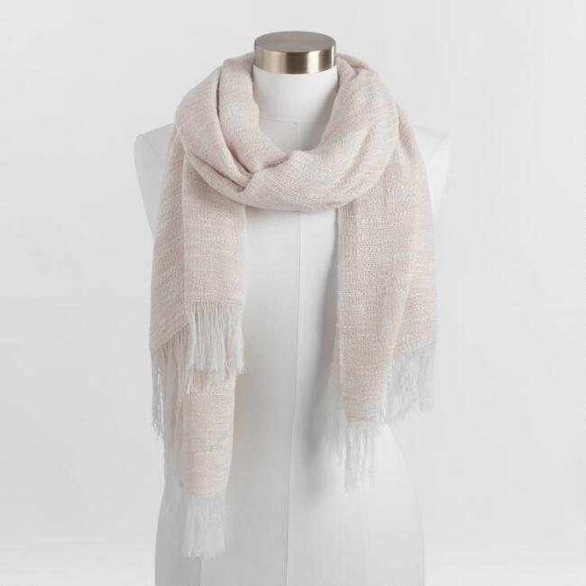 Pink Nubby Scarf
