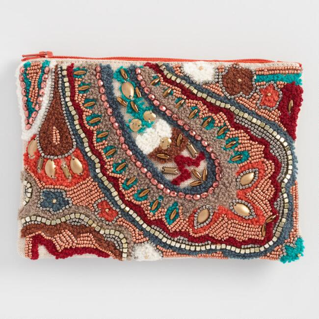 Paisley Beaded Pouch