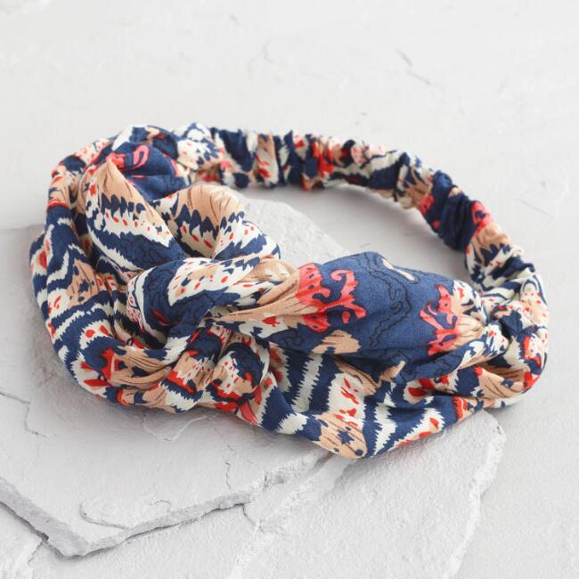 Navy and Orange Headband