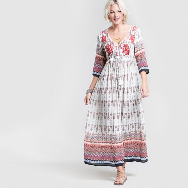 Floral Embroidered Shilo Dress