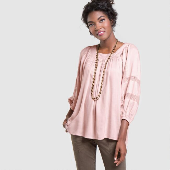 Blush Blythe Peasant Top