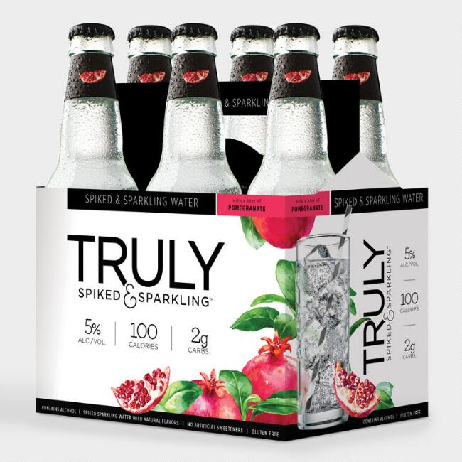 Truly Spiked And Sparkling Pomegranate Hard Seltzer 6 Pack