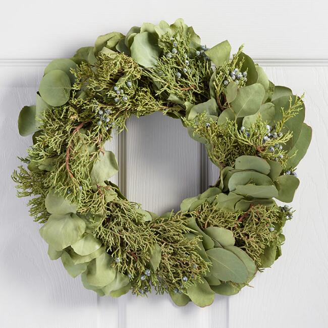 Eucalyptus and Juniper Wreath