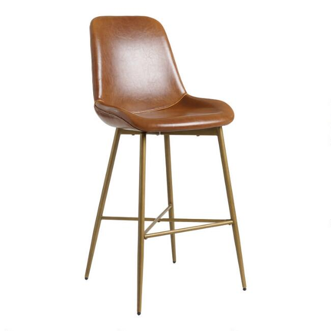 Bi Cast Leather Molded Tyler Barstool