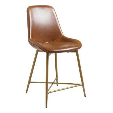 Bi Cast Leather Molded Tyler Counter Stool
