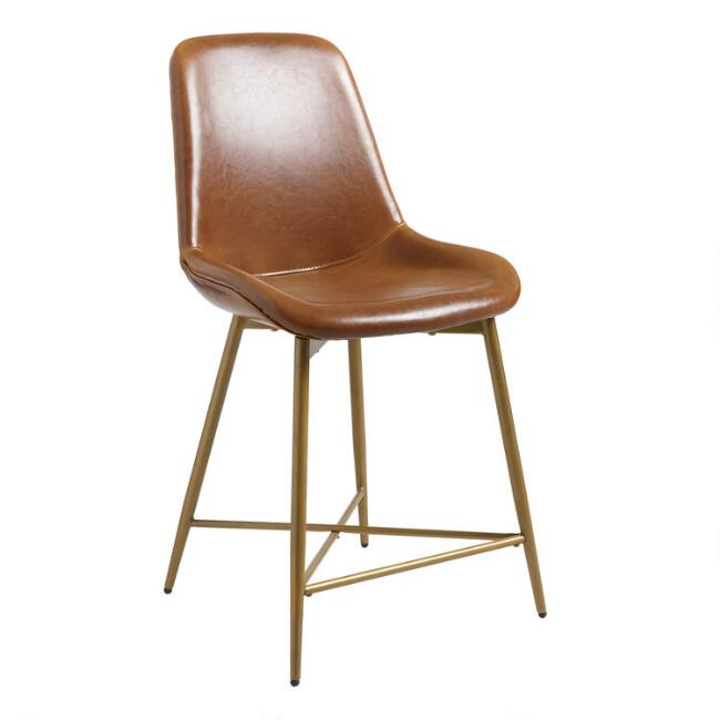 Bi Cast Leather Tyler Molded Counter Stool
