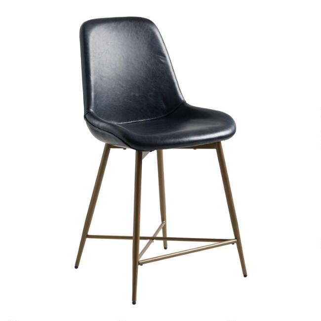 Strange Bi Cast Leather Tyler Molded Counter Stool Caraccident5 Cool Chair Designs And Ideas Caraccident5Info