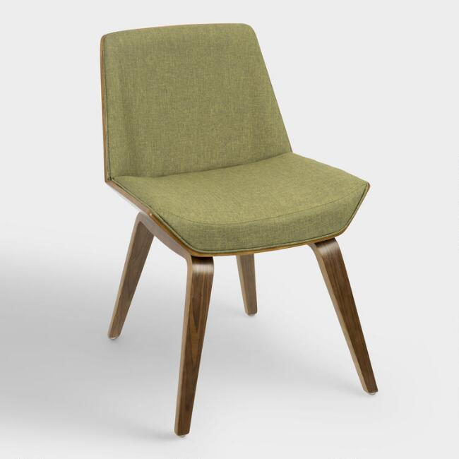 Green Mid Century Joel Upholstered Dining Chair